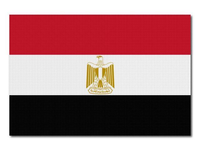 Tištěná egyptská vlajka