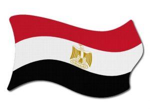 Egyptská vlajka vlající