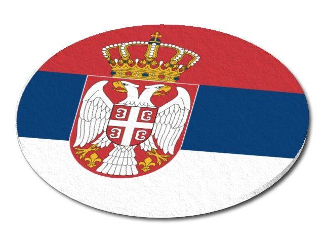 Filcový podtácek Srbsko