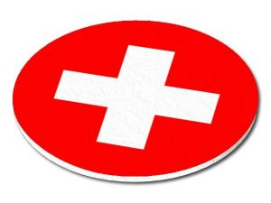 Filcový podtácek Švýcarsko