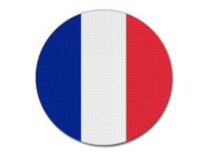 Francouzská vlajka kulatá tisk