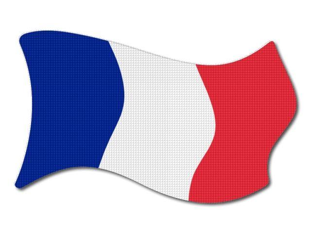Francouzská vlajka vlající