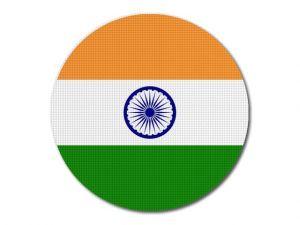 Indická vlajka kulatá tisk
