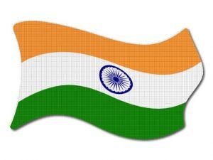 Indická vlajka vlající