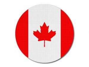 Kanadská vlajka kulatá