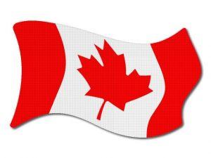 Kanadská vlajka vlající