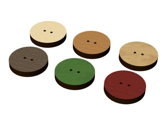 dřevěný knoflík barevný