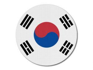 Korejská vlajka kulatá