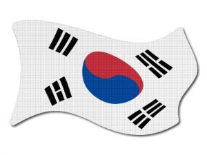Korejská vlajka vlající