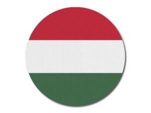 Maďarská vlajka kulatá tisk