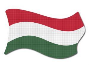 Maďarská vlajka vlající