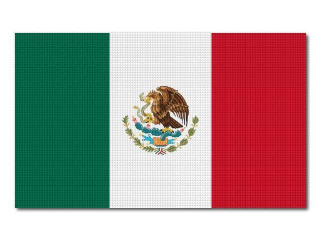 Tištěná mexická vlajka