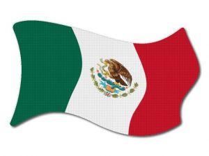 Mexická vlajka vlající