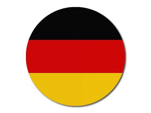 Německá vlajka kulatá tisk