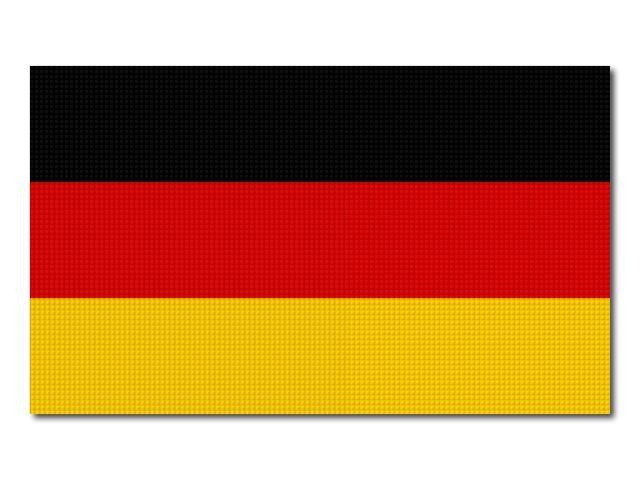 Tištěná německá vlajka