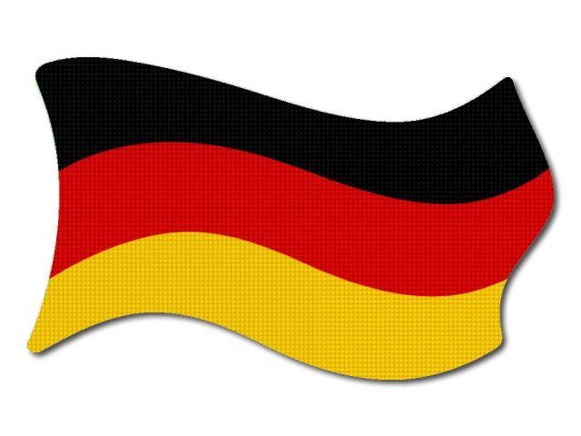 Německá vlajka vlající