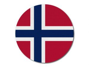 Norská vlajka kulatá tisk