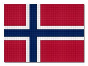 Norská vlajka tištěná