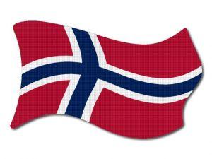 Norská vlajka vlající