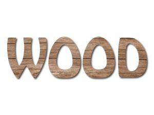 Filcové písmeno s potiskem dřeva