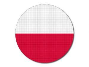 Polská vlajka kulatá tisk