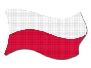 Polská vlajka vlající