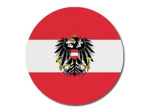 Rakouská vlajka kulatá tisk