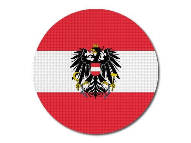Tištěná rakouská vlajka kulatá