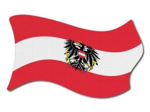 Rakouská vlajka vlající