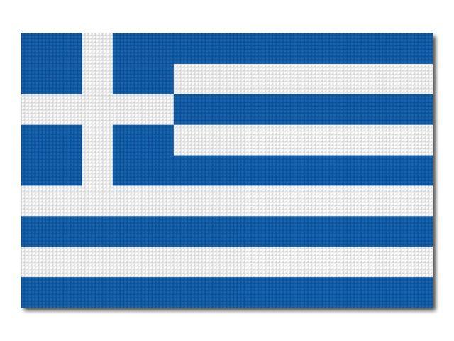 Tištěná Řecká vlajka