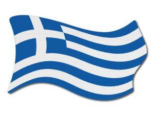 Řecká vlajka vlající