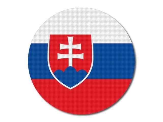 Tištěná slovenská vlajka kulatá