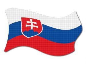 Slovenská vlajka vlající