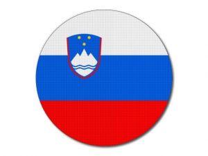 Slovinská vlajka kulatá tisk