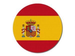 Španělská vlajka kulatá tisk