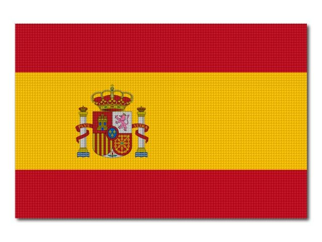 Tištěná Španělská vlajka