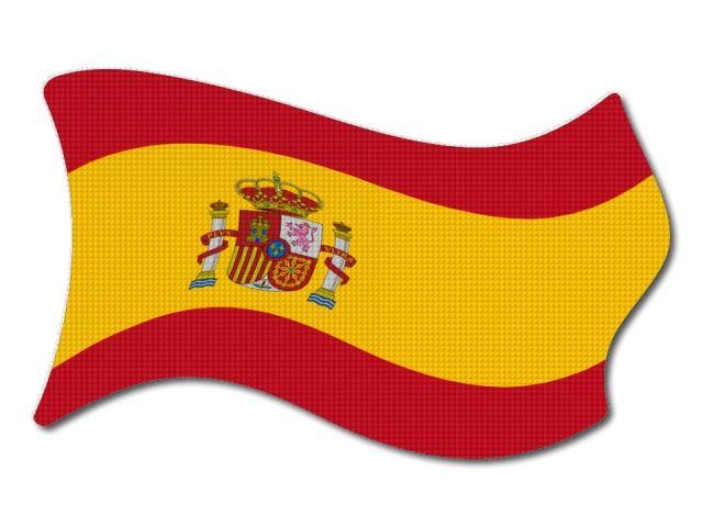 Španělská vlajka vlající