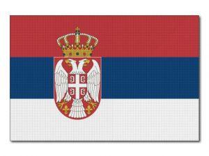 Tištěná srbská vlajka