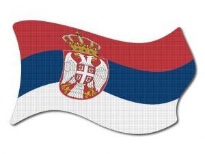 Srbská vlajka vlající
