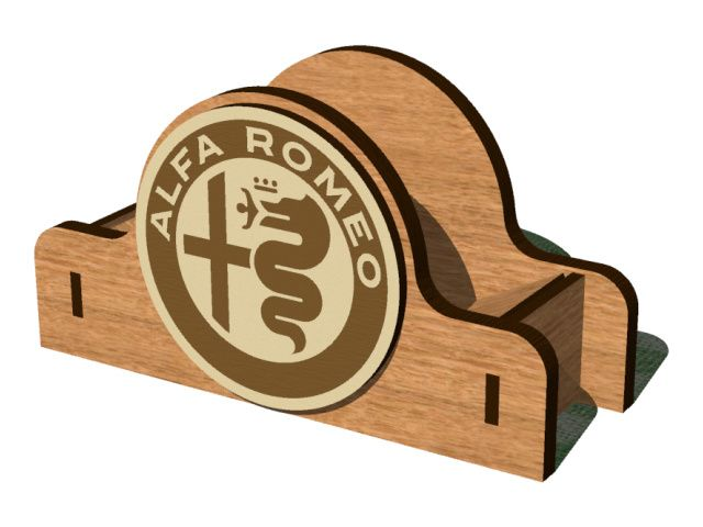Stojánek pro podtácky Alfa Romeo