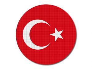Turecká vlajka kulatá