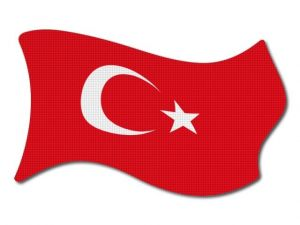 Turecká vlajka vlající