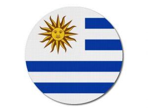 Uruguayská vlajka kulatá tisk