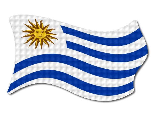 Uruguayská vlajka vlající