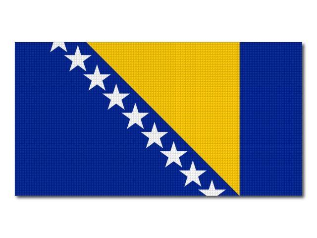 Tištěná vlaječka Bosny a Hercegoviny