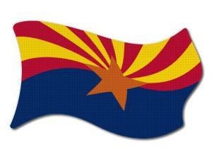Vlajka Arizona vlající