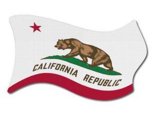 Vlajka California vlající