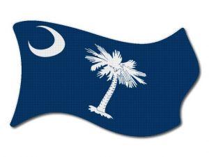 Vlajka Carolina vlající