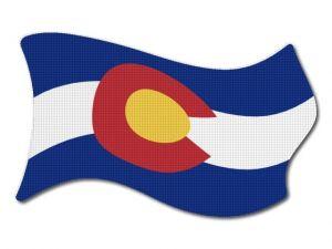 Vlajka Colorado vlající