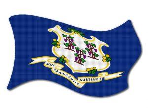 Vlajka Connecticut vlající